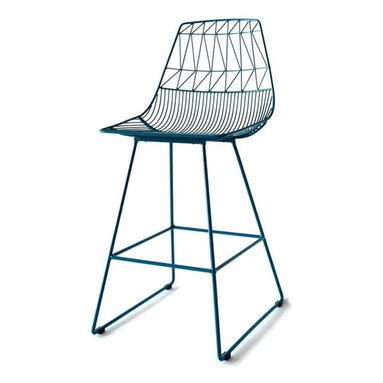 Lucy Counter Stool - Refresh your dining area with graceful and elegant Lucy Counter Stools. Distinctive kitchen stools can be used indoors or out. Hot-dip galvanized iron with a powder coated finish helps to prevent rust.