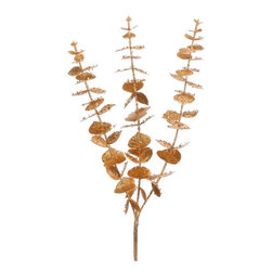 Silk Plants Direct - Silk Plants Direct Glittered Eucalyptus (Pack of 24) - Gold Gold - Pack of 24. Silk Plants Direct specializes in manufacturing, design and supply of the most life-like, premium quality artificial plants, trees, flowers, arrangements, topiaries and containers for home, office and commercial use. Our Glittered Eucalyptus includes the following:
