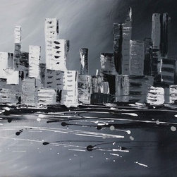 Corporate world by Preethi: Original Large Modern Painting - Title: Corporate world