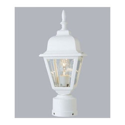 Trans Globe Lighting - Trans Globe Lighting 4414 Single Light Up Lighting Outdoor Post Light from the O - Single light up lighting outdoor post top featuring beveled glassRequires 1 100w Medium Base Bulb (Not Included)