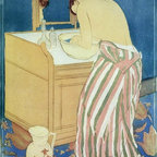 """Mary Cassatt The Bath - 18"""" x 24"""" Premium Archival Print - 18"""" x 24"""" Mary Cassatt The Bath premium archival print reproduced to meet museum quality standards. Our museum quality archival prints are produced using high-precision print technology for a more accurate reproduction printed on high quality, heavyweight matte presentation paper with fade-resistant, archival inks. Our progressive business model allows us to offer works of art to you at the best wholesale pricing, significantly less than art gallery prices, affordable to all. This line of artwork is produced with extra white border space (if you choose to have it framed, for your framer to work with to frame properly or utilize a larger mat and/or frame).  We present a comprehensive collection of exceptional art reproductions byMary Cassatt."""