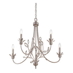 Quoizel - Quoizel WSY5005IF Wesley 5 Light Chandeliers in Italian Fresco - This 5 light Chandelier from the Wesley collection by Quoizel will enhance your home with a perfect mix of form and function. The features include a Italian Fresco finish applied by experts. This item qualifies for free shipping!
