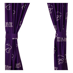 College Covers - NCAA Kansas State Wildcats Curtains Long Collegiate Drapes - Features: