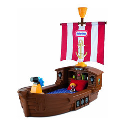 Little Tikes Pirate Ship Toddler Bed - If you have a little pirate fan in your house, this bed will make him absolutely thrilled to go to bed! Kids will not only be able to get a good night's sleep, but also play and imagine sailing the high seas.