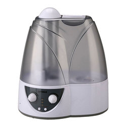 Optimus - 2.0 Gallon Cool Mist Ultrasonic Humidifier - Breathe easy with this sleek, cool mist humidifier in your bedroom, living room or office. It can keep going for 18 continuous hours, so you can sleep comfortably all night. It's a cinch to add water — use the easy-to-fill, see-through water tank. For your added comfort, the refill light and automatic shutoff feature makes it oh-so convenient.