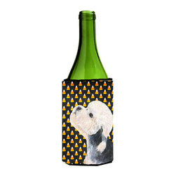 Caroline's Treasures - Dandie Dinmont Terrier Candy Corn Halloween Portrait Wine Bottle Koozie Hugger - Dandie Dinmont Terrier Candy Corn Halloween Portrait Wine Bottle Koozie Hugger Fits 750 ml. wine or other beverage bottles. Fits 24 oz. cans or pint bottles. Great collapsible koozie for large cans of beer, Energy Drinks or large Iced Tea beverages. Great to keep track of your beverage and add a bit of flair to a gathering. Wash the hugger in your washing machine. Design will not come off.