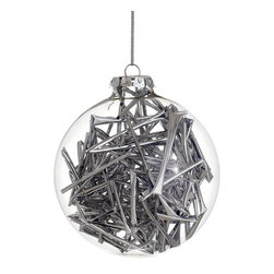 Silk Plants Direct - Silk Plants Direct Tube Confetti Glass Ball Ornament (Pack of 12) - Silver - Pack of 12. Silk Plants Direct specializes in manufacturing, design and supply of the most life-like, premium quality artificial plants, trees, flowers, arrangements, topiaries and containers for home, office and commercial use. Our Tube Confetti Glass Ball Ornament includes the following:
