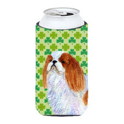 Caroline's Treasures - English Toy Spaniel St. Patrick's Day Shamrock Portrait Tall Boy Koozie Hugger - English Toy Spaniel St. Patrick's Day Shamrock Portrait Tall Boy Koozie Hugger Fits 22 oz. to 24 oz. cans or pint bottles. Great collapsible koozie for Energy Drinks or large Iced Tea beverages. Great to keep track of your beverage and add a bit of flair to a gathering. Match with one of the insulated coolers or coasters for a nice gift pack. Wash the hugger in your dishwasher or clothes washer. Design will not come off.