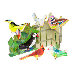 Pop Out Cards: Birds Tweeting