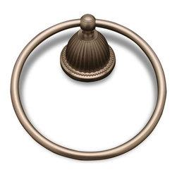 RK International - Pewter RKI Beaded Bell Base Towel Ring (RKIBEPW5) - Beaded Bell Base Towel Ring - Finish: Pewter - Item #: RKIBEPW5