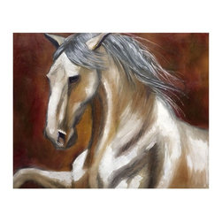 """Trademark Global - """"Odyssey in White I"""" by Michelle Moate - Gicl - Giclee on canvas. Ready to Hang Wall Art. Professionally mounted on a lightweight wooden frame. 36 in. W x 48 in. H x 1. 5 in. depthGiclee (jee-clay) is an advanced printmaking process for creating high quality fine art reproductions. The attainable excellence that Giclee printmaking affords makes the reproduction virtually indistinguishable from the original artwork. The result is wide acceptance of Giclee by galleries, museums, and private collectors.Now you can experience all the passion and spirit of Michelle Moate's atmospheric artwork. """"Odyssey in White I"""" will add warmth to any home or office decor.Born in Pensacola, Florida in 1970, Ellen King's (now known as Michelle Moate) artistic talent began to reveal itself in the form of drawing at an early age. She studied art and psychology at Wesleyan College in Macon, and later at Oglethorpe University in Atlanta. From there her interests turned toward computer art forms, which led her to attend the Art Institute of Atlanta and the Atlanta College of Art. After studying mostly computer animation, her need to express herself through paint and charcoal intensified. She began painting for the art market in 1997, and before her return to Florida, she gained notoriety within the Atlanta area as a premier local artist. She was also nominated for national recognition through the Academy of Fine Art Foundation's fine arts award program in 2002. She has consistently donated art for various charities, and has attended art shows throughout the southeast, as well as Art Expo New York in 1998, 1999, and 2002.Ellen's work evokes a mood of warmth and passion through the colors of her palette. From horses to wine, her art demonstrates her own personal connection with the subjects. Her overall style is impressionistic, and sometimes a few contemporary mediums are added to enliven the compositions and give them more pizazz. Ellen states: """"I took on the role as artis"""