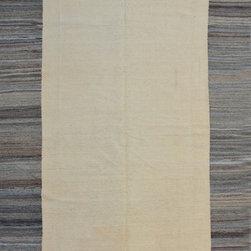 "ALRUG - Handmade Beige Oriental Kilim  6' 4"" x 10' (ft) - This Afghan Kilim design rug is hand-knotted with Wool on Wool."