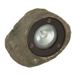 Moonrays - Moonrays Outdoor Lighting. Outdoor Low Voltage 20-Watt Rock Spotlight - Shop for Lighting & Fans at The Home Depot. The Moonrays Outdoor Low Voltage 20-Watt Rock Spotlight adds a decorative touch to your pathway, patio or garden and provides a variety of lighting options for landscape design. Made of durable polyresin, this garden accent will complement your yard, garden or pond during the day and provide a bright white light at night. This light can also be used in combination with other low voltage lights and control boxes for a custom landscape design. The rock spotlight has a glass lens, a 7.5-in. above ground height, a connector, a 20-watt MR-16 bulb, takes the replacement bulb #95518 and is cUL listed for your family s protection. Let Moonrays help make your outdoor settings as livable, enjoyable and charming as any room in your home. The Moonrays Outdoor Polyresin Low Voltage 20-Watt Rock Spotlight comes with a 1-year limited warranty provided to the original purchaser, which protects this product from manufacturing defects in material, assembly and workmanship.