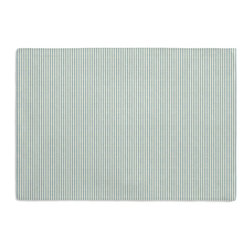 Light Blue Pinstripe Custom Placemat Set - Is your table looking sad and lonely? Give it a boost with at set of Simple Placemats. Customizable in hundreds of fabrics, you're sure to find the perfect set for daily dining or that fancy shindig. We love it in this light blue & ivory woven cotton pinstripe for a preppy classic accent.