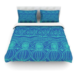 """Kess InHouse - Catherine Holcombe """"Beach Blanket Confusion"""" Cotton Duvet Cover (Queen, 88"""" x 88 - Rest in comfort among this artistically inclined cotton blend duvet cover. This duvet cover is as light as a feather! You will be sure to be the envy of all of your guests with this aesthetically pleasing duvet. We highly recommend washing this as many times as you like as this material will not fade or lose comfort. Cotton blended, this duvet cover is not only beautiful and artistic but can be used year round with a duvet insert! Add our cotton shams to make your bed complete and looking stylish and artistic! Pillowcases not included."""