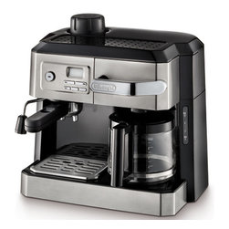 DeLonghi - Combination Espresso and Drip Coffee with Programable Timer - Features: