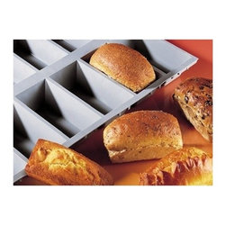 """de Buyer - de Buyer Elastomoules Silicone Mini Loaf Mold - 6 portions - Silicone foam mold, non-stick. Perfect heat transmission, thereby gaining time and allowing juices to caramelize. Carefully designed to guarantee flawless shape. Can be used for baking and freezing -70"""" to +580"""" F (300"""" C) Loaf shape with 6 cavities. Please note that picture belongs to 6 cavities. Dimensions: Each cavity has 1.20"""" H x 3.60"""" L x 1.92 W. Dishwasher safe..Made in France."""