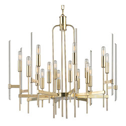 HUDSON VALLEY LIGHTING - Hudson Valley Lighting Bari-Chandelier Aged Brass - Free Shipping