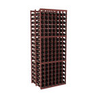 Wine Racks America - 7 Column Double Deep Cellar in Redwood, Cherry + Satin Finish - This Double Deep kit is an efficient wine rack that stores 21 cases of wine in one spot. Ideal for restaurants, bars, liquor stores and private collections. Great as a cellar starting kit or as an expansion, our modular design improves flexibility without sacrificing quality. We guarantee that you will love our wine racks.