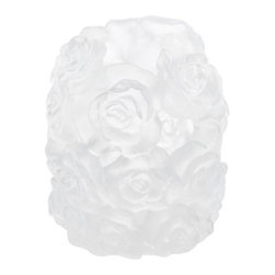 "Daum - Daum Crystal Candle Holder Large White 05379-2 - ""Since 1878 Daum have been crafting world-renowned beauty in lead crystal using rare and ancient techniques. Daum's perfect mastery of Pate de Verre has earned it a worldwide reputation for excellence. Daum Crystal has kept alive for more than a century a love relationship with the greatest artists of its time, giving their work of art a second life of crystal and colors. Few brands will have worked with as many artists: within 130 years, more than 350 exceptional signatures have consituted a heritage beyond compare, a unique collection."""