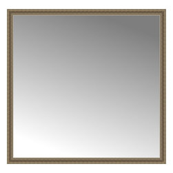 """Posters 2 Prints, LLC - 72"""" x 70"""" Ambrosia Silver Custom Framed Mirror - 72"""" x 70"""" Custom Framed Mirror made by Posters 2 Prints. Standard glass with unrivaled selection of crafted mirror frames.  Protected with category II safety backing to keep glass fragments together should the mirror be accidentally broken.  Safe arrival guaranteed.  Made in the United States of America"""