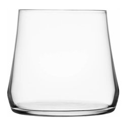 Iittala - Marc Newson Glass, Set of 2, 13 Oz. Clear - Bottoms up — and you can take that literally. This cool-looking glass, tapered at the top and big around the bottom, is bound to be a conversation starter at your table.