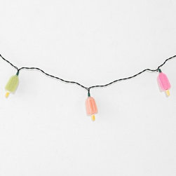 Popsicle String Lights - Patio lights don't always have to be elegant. How fun are these Popsicle lights?