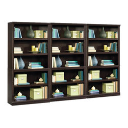 Sauder - Sauder Storage Five Shelf Wall Bookcase in Jamocha Wood Finish - Sauder - Bookcases - 410375PKG - Sauder Storage Five Shelf Bookcase in Jamocha Wood Finish (included quantity: 3)