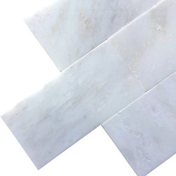 All Marble Tiles - Arabescato Carrara 3x6 Polished Marble Subway Tile - Finish: Polished