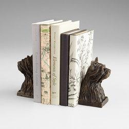 Cyan Design - Westie Bookends - Westie bookends - bronze