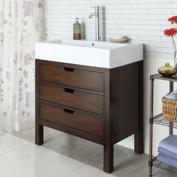 "Acme Furniture - Tillie Sink Cabinet - Frame in Cherry - Tillie Sink Cabinet - Frame in Cherry; Finish: Cherry; Materials: MDF, Solid Wood Leg; Weight: 62 lbs; Dimensions: 32"" x 18"" x 36""H"