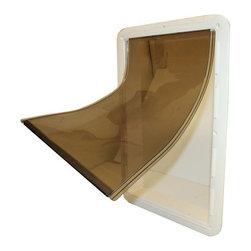 WOODSTREAM CORPORATION - 7110 Small Vinyl Dog Door - Features: