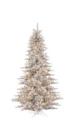 6.5 ft. Silver Tinsel Fir Christmas Tree - 6.5 ft. Artificial Christmas Tree
