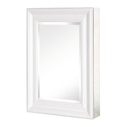 Pegasus - Deco Framed Medicine Cabinet w Mirror - SP459 - Color: Oil Rubbed BronzeManufacturer SKU: SP4597. Includes side mirror and hanging kit. Adjustable glass shelves. Rust-free aluminum case. Self-closing hinges open upto 110 degree. Recess or surface mount. 15 in. W x 5.5 in. D x 26 in. H (25.8 lbs.)