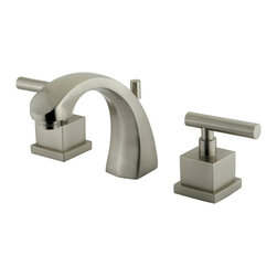 Kingston Brass - Two Handle 8in. to 16in. Widespread Lavatory Faucet with Brass Pop-up - Two Handle Deck Mount, 3 Hole Sink Application, 8in. to 16in. Widespread, Fabricated from solid brass material for durability and reliability, Premium color finish resist tarnishing and corrosion, 1/4 turn On/Off water control mechanism, 1/2in. IPS male threaded shank inlets, Ceramic disc cartridge, 2.2 GPM (8.3 LPM) Max at 60 PSI, Integrated removable aerator, 5in. spout reach from faucet body, 5-1/2in. overall height.