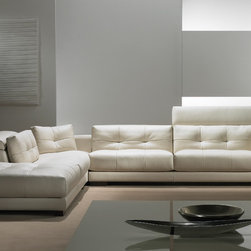 Sonia Sofa/Sectional - Hardwood frame with adjustable headrest. Comes in many colors and grades of leather. Various sizes and configurations available. Contact info@casaspazio.com for more information.