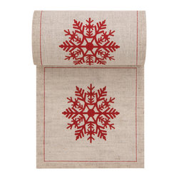 MYdrap - Holiday Printed Cocktail Napkin, Natural, Snowflake - - MYdrap Holiday Cocktail Napkins on a Roll feature a festive printed design.