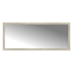 """Posters 2 Prints, LLC - 71"""" x 29"""" Libretto Antique Silver Custom Framed Mirror - 71"""" x 29"""" Custom Framed Mirror made by Posters 2 Prints. Standard glass with unrivaled selection of crafted mirror frames.  Protected with category II safety backing to keep glass fragments together should the mirror be accidentally broken.  Safe arrival guaranteed.  Made in the United States of America"""