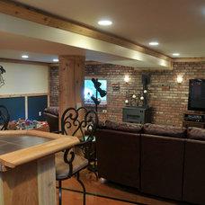 Traditional Basement by Hurst Design Build Remodeling