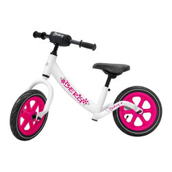 Berg USA - Berg USA Biky Balance Bike - White - 24.75.02.00 - Shop for Tricycles and Riding Toys from Hayneedle.com! Take steps one at a time and let them get their first taste of two-wheeled freedom with the Berg USA Biky White Riding Toy. This pedal-less bike lets Mom or Dad stay close at hand while they experiment with balance without the hassle and danger of pedals getting in the way. When they get the hang of it they can put their feet back on the frame tubes and see what all that big-kid fuss is about. The seat and handlebars are both adjustable for height and plenty of padding makes the ride more comfortable and reduces the chance of injury from those inevitable spills. This bike is recommended for children ages 3 and up and weighs only 15 lbs. About Berg USAFounded in 2010 Berg USA is quickly becoming a recognized name in children's riding toys with their innovative designs and attention to safety that don't get in the way of their dedication to providing outdoor exercise for both kids and adults. Berg USA designs and offers a wide variety of high-quality pedal go-karts for home or commercial use ranging in size to comfortably accommodate ages 2 through adult as well as their versatile line of MOOV construction kits. Please note this product does not ship to Pennsylvania.
