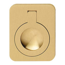 Hafele - Brass Drawer Pulls - Hafele item number 161.15.513 is a beautifully finished Brass Drawer Pulls. Product Diminsion(s): Hole Spacing: 96.012 mm. / 3 25/32 in.Diameter: 50.038 mm. / 1 31/32 in.Projection: 66.548 mm. / 2 5/8 in.