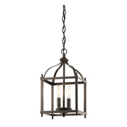 Kichler Lighting - Kichler Lighting - 42565OZ - Larkin - Two Light Cage Foyer - *Theme: Traditional
