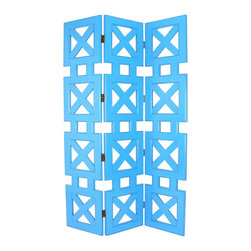 Wayborn - Wayborn Hunter Room Divider in Teal - Wayborn - Room Dividers - 2369T -