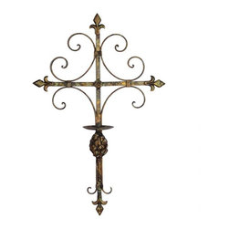 Metal Wall Sconce - Metal cross wall sconce