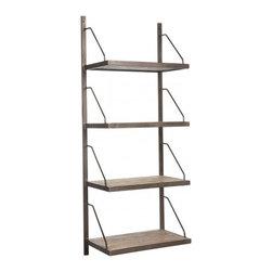 Aidan Gray - Aidan Gray | Lewen Book Shelf - The Lewin Book Shelf is made of steel with elm shelves.