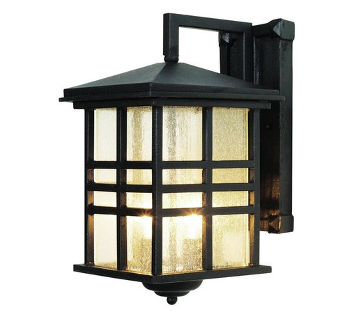 Joshua Marshal - Two Light Weathered Bronze Clear Seeded Rectangle Glass Wall Lantern - Two Light Weathered Bronze Clear Seeded Rectangle Glass Wall Lantern