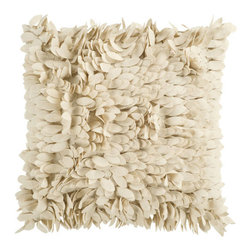 Surya Rugs - Khaki Plush Petal 22 x 22 Pillow - This fun pillow livens up any space. The color beige accents this decorative pillow. This pillow contains a poly fill and a zipper closure. Add this 22 x 22 pillow to your collection today.  - Includes one poly-fiber filled insert and one pillow cover.   - Pillow cover material: 100% Polyester Surya Rugs - HH070-2222P