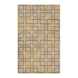 Surya - Contemporary Artist Studio 9'x13' Rectangle Beige-Gray  Area Rug - The Artist Studio area rug Collection offers an affordable assortment of Contemporary stylings. Artist Studio features a blend of natural Beige-Gray  color. Hand Tufted of 100% New Zealand Wool the Artist Studio Collection is an intriguing compliment to any decor.