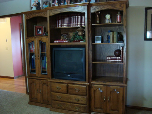Need ideas to repurpose entertainment center into puter