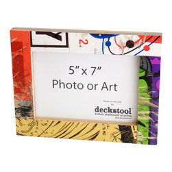 Deckstool - Recycled Skateboard Picture Frame for 5x7 Photo or Art by Deckstool - New Recycled Skateboard Frames by Deckstool.